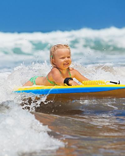 attività di Surf per bambini