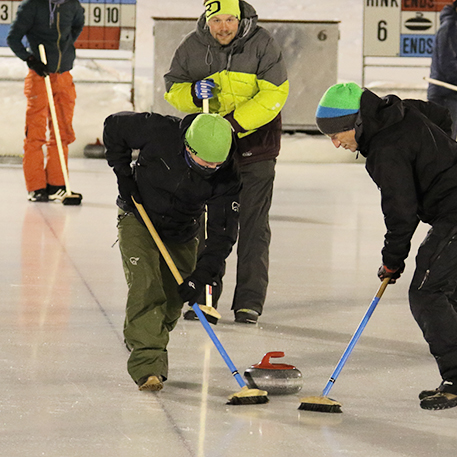 Curling in Silvaplana