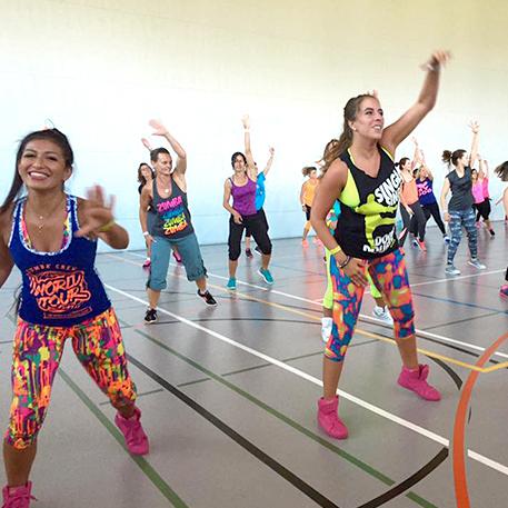 zumba und aerobic Kurse