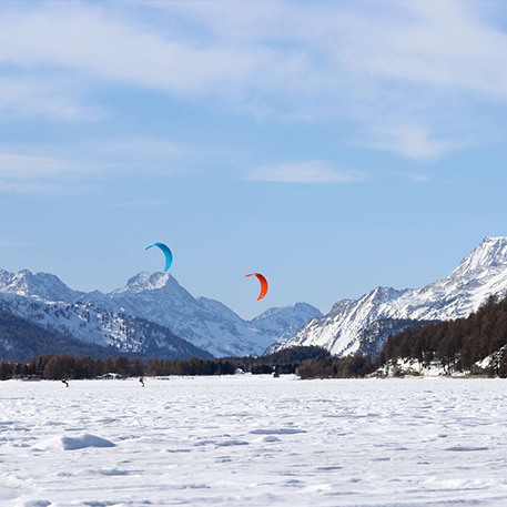 kite sul lago ghiacciato