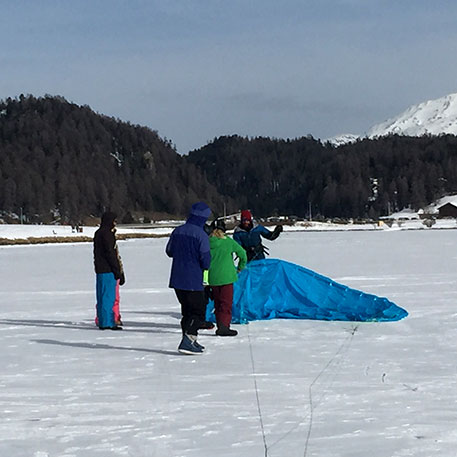 corso di snowkite per bambini