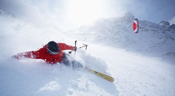 snowkite kurs silvaplana