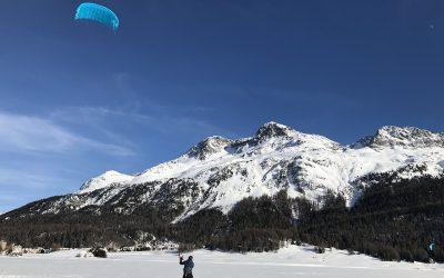 When is the Snowkite season going to start in Engadin?