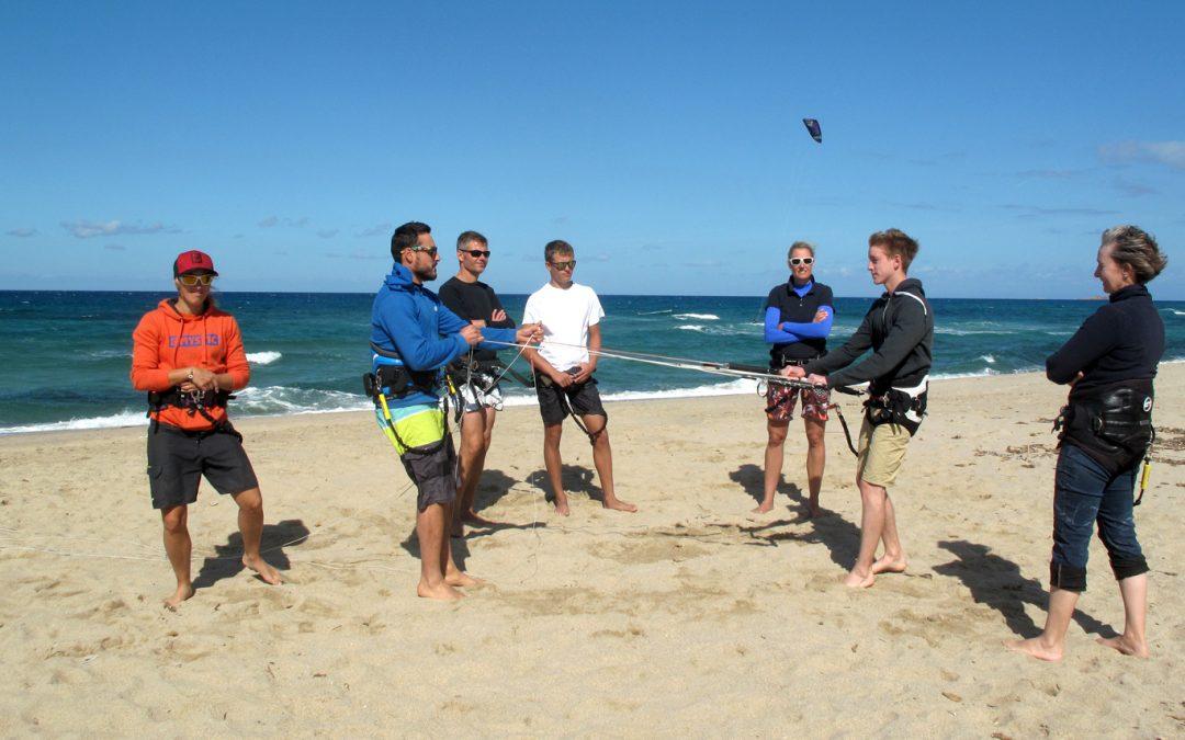 Der Wind: unser Start Konzept. Kitesurf Unterricht: erster Teil, die Sicherheit
