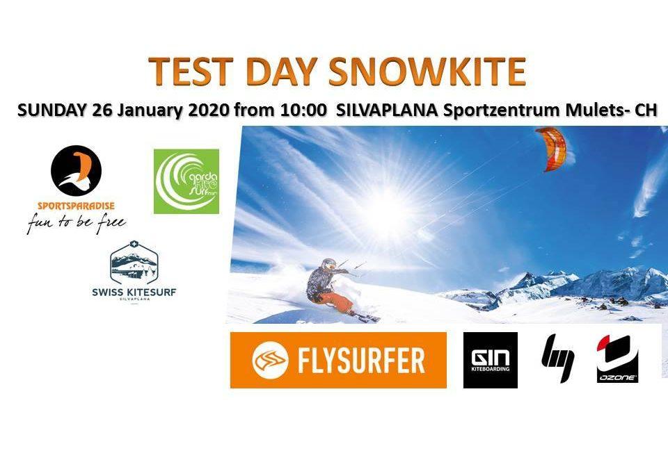 Giorno test di snowkite: un modo per scegliere al meglio il tuo snowkite