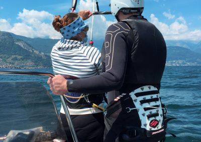 corso base kitesurf dervio