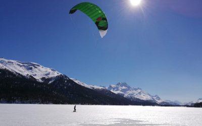 Quando inizia la stagione di snowkite in Engadina?